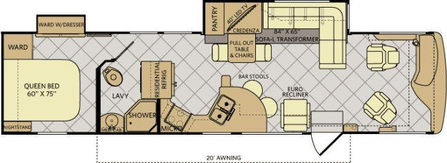 Fleetwood Excursion floorplan